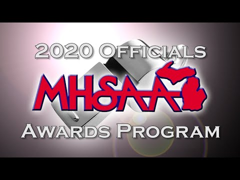 Video thumbnail for 2020 MHSAA Officials Awards Program